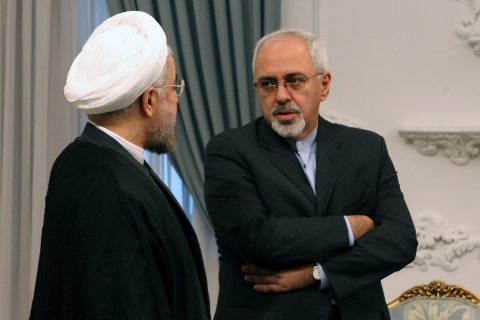 New Iranian President Rowhani meets with diplomat Zarif