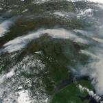 wildfires burn in western Quebec