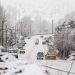 بارش برف در دامنههای گنجنامه  (2)