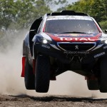 Peugeot driver Sainz of Spain drives during the first stage of the Dakar Rally 2015 from Buenos Aires to Villa Carlos Paz