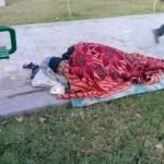 کارتن خوابی در مرکز شهر کاشان
