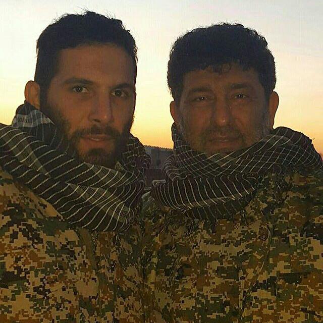 سعید حدادیان مداح در سوریه با عکس
