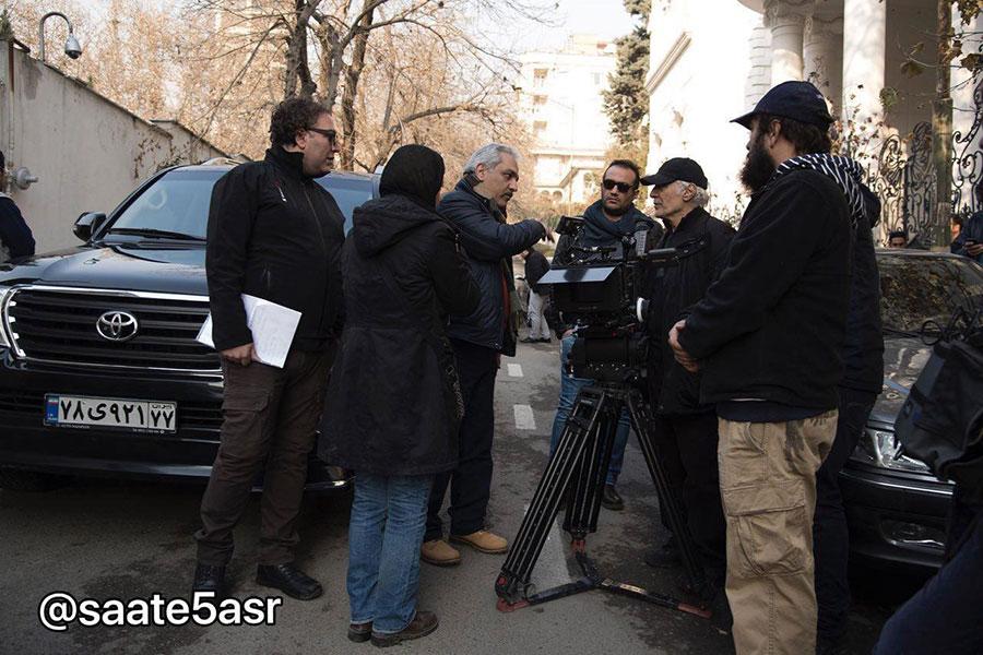 مهران مدیری در پشت صحنه فیلم جدیدش /عکس