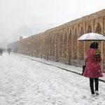 آب هوا برفی اصفهان