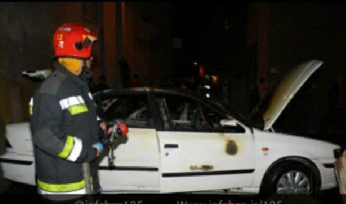حریق خودرو و آتش نشانی اصفهان