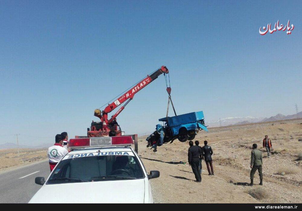 برخورد مرگبار خاور با نیسان حادثه آفرید