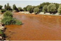 قرمز شدن رنگ آب زاینده رود اصفهان
