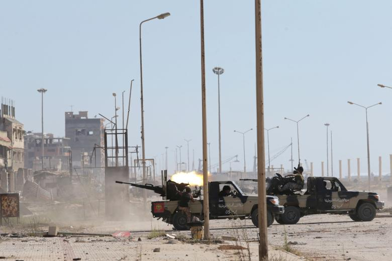 Clashes between special forces of the Libyan army and Islamist militants in their last stronghold in Benghazi