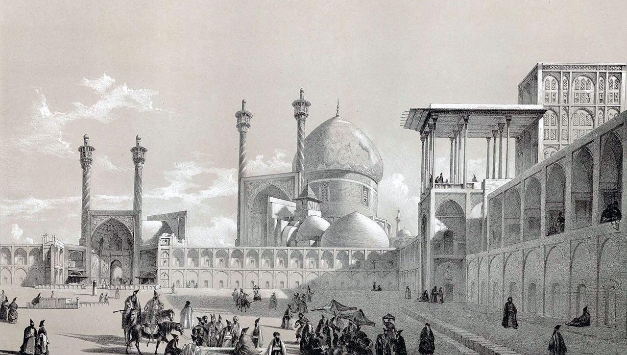 Naqsh-e_Jahan_Square_by_Eugène_Flandin