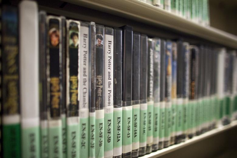Harry Potter movies are among the titles available at the detainee library located inside Camp Delta at the U.S. Naval Base at Guantanamo Bay