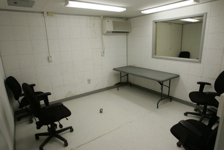 Interrogation rooms shown at Camp Delta in Guantanamo Bay Cuba.