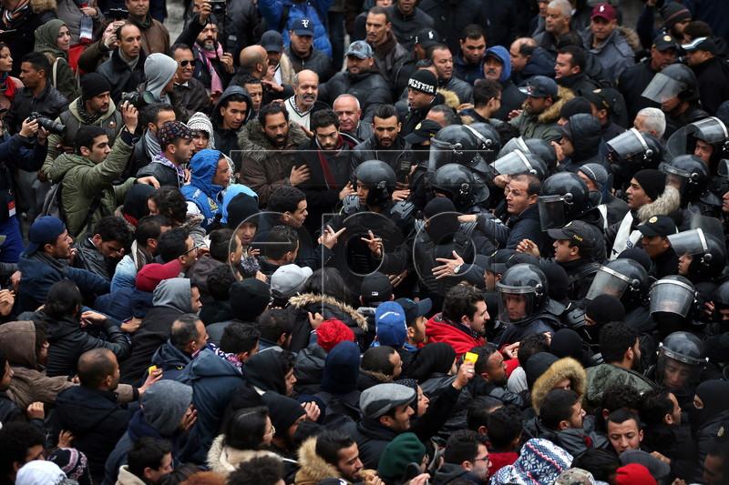 Protest against austerity measures in Tunisia
