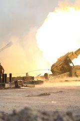 آغاز حملات توپخانه ای به مواضع داعش درموصل