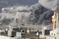 العدوان السعودي يستخدم قنابل انفلاقية محرمة في صعدة