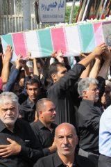 تشییع شهید گمنام در اردستان