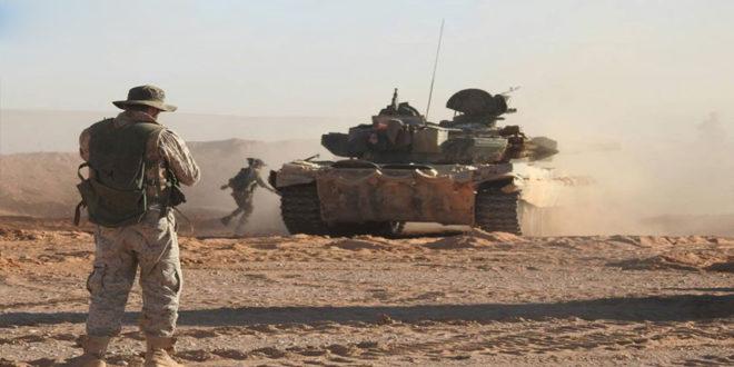 صور من عملیات الجیش السوری فی بادیه