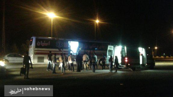 واژگونی اتوبوس اصفهان (2)