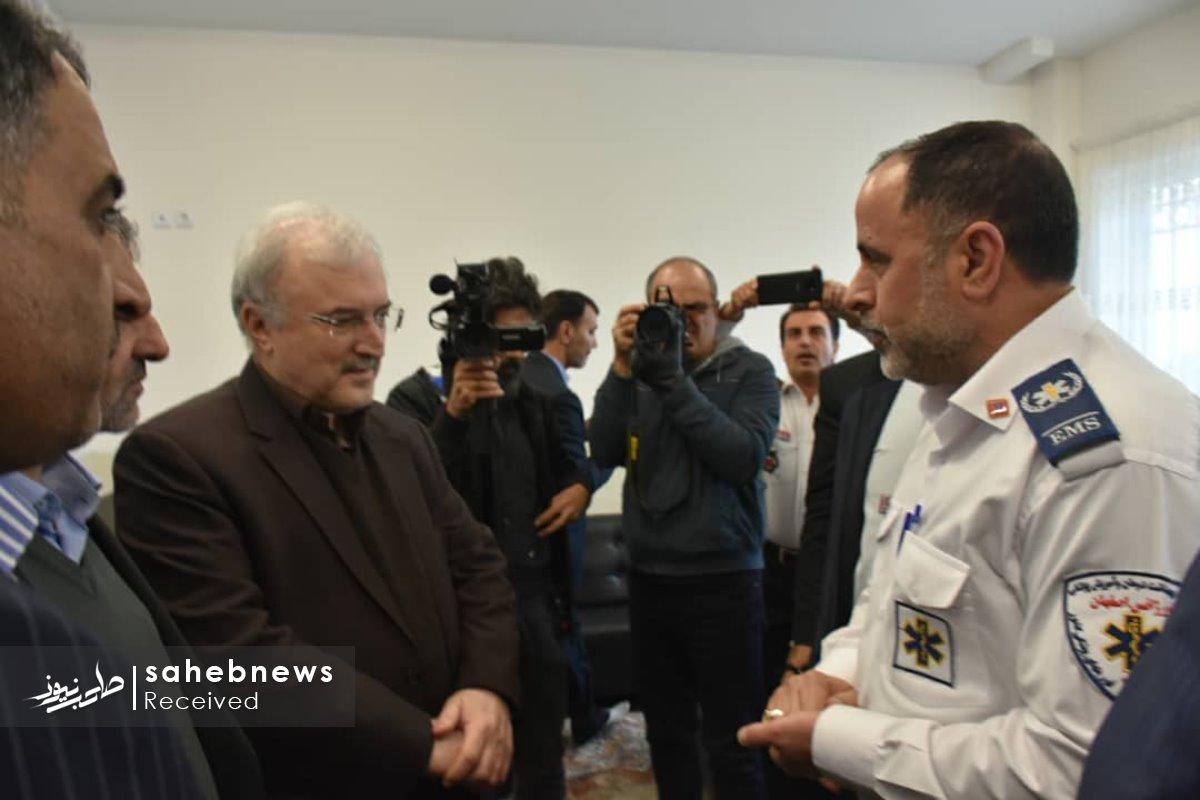 افتتاح پایگاه اورژانس نطنز وزیر بهداشت (6)