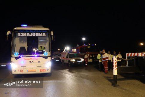 واژگونی اتوبوس اصفهان (1)