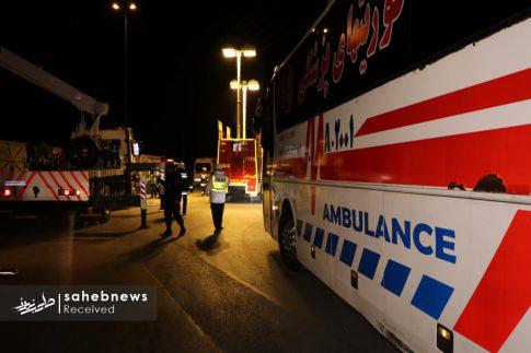 واژگونی اتوبوس اصفهان (9)