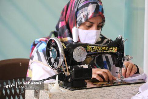 تولید ماسک کرونا توسط بسیج اصفهان (2)