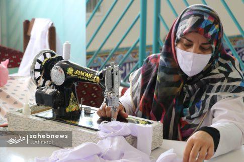 تولید ماسک کرونا توسط بسیج اصفهان (5)