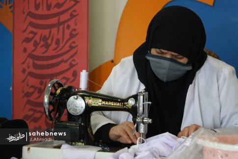 تولید ماسک کرونا توسط بسیج اصفهان (8)