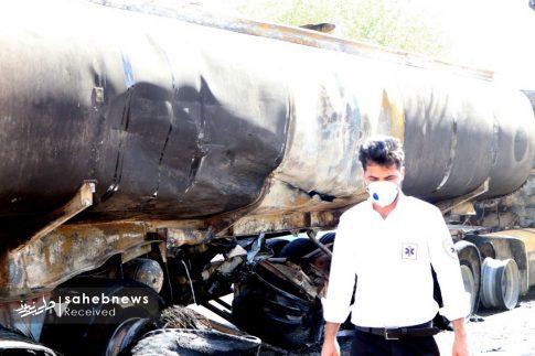 تصادف تانکر حامل سوخت (1)
