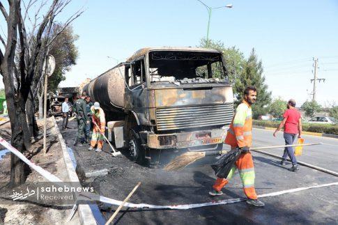 تصادف تانکر حامل سوخت (2)