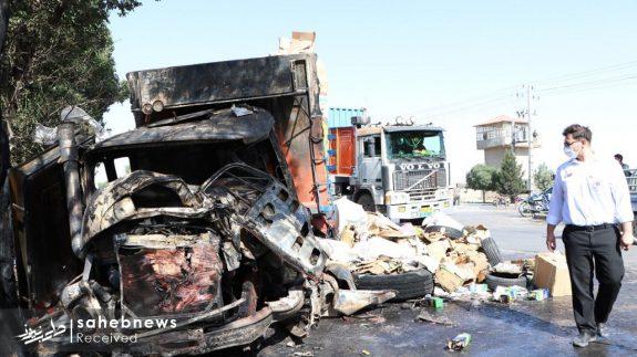 تصادف تانکر حامل سوخت (3)