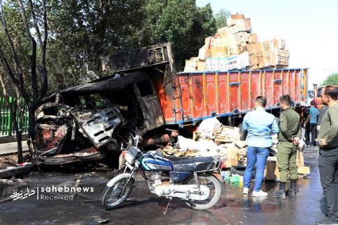 تصادف تانکر حامل سوخت (4)