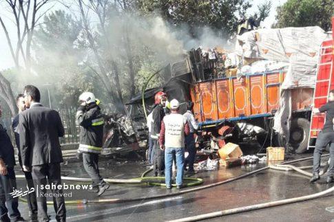 تصادف تانکر حامل سوخت