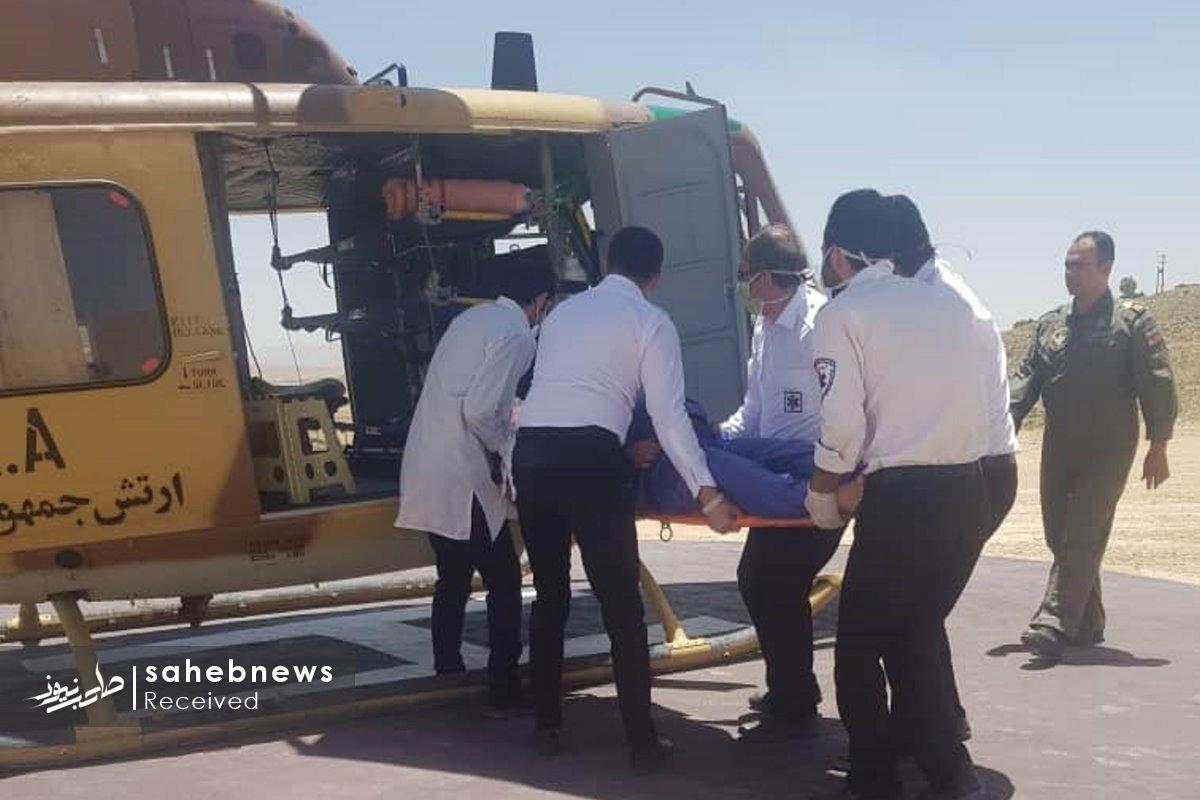 اورژانس هوایی اصفهان مادر چهارقلو (1)