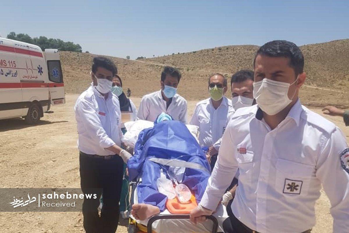 اورژانس هوایی اصفهان مادر چهارقلو (2)