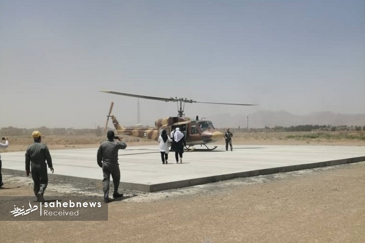 اورژانس هوایی اصفهان مادر چهارقلو (3)