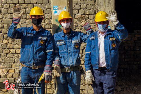 آغاز پروژه تبدیل شبکه برق فشار ضعیف به کابل خودنگهدار در برخوار (14)