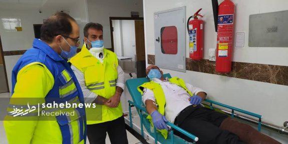 تصادف زنجیره ای اصفهان اورژانس (6)
