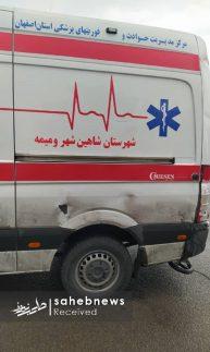 تصادف زنجیره ای اصفهان اورژانس (7)