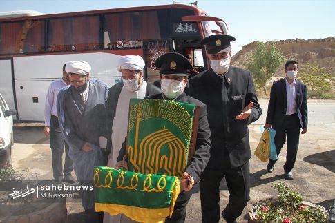 حضور خادمین امام رضا (ع) در کارخانه آجر کمالی نما دولت آباد + تصاویر (1)
