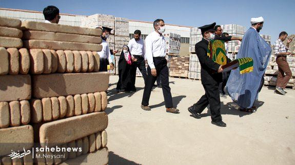 حضور خادمین امام رضا (ع) در کارخانه آجر کمالی نما دولت آباد + تصاویر (3)