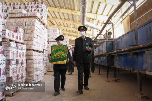 حضور خادمین امام رضا (ع) در کارخانه آجر کمالی نما دولت آباد + تصاویر (6)